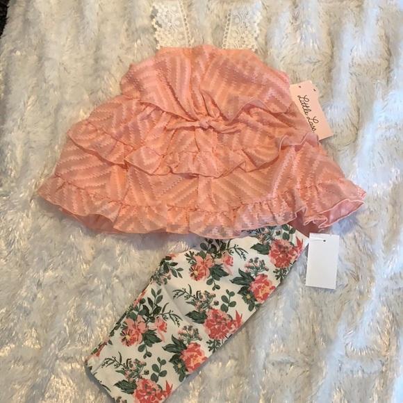 NWT Little Lass Floral Skimmer Set 24 months